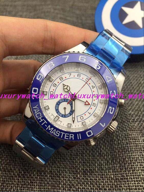 18 Style NEW II Белое 18-каратное белое золото и платиновая рамка 44MM 116680 116681 116688 116689 Мужские механические часы Роскошные наручные часы
