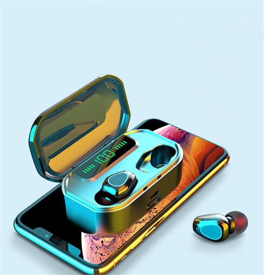 F9 Display Led baixo pesado Mini auriculares Smart Touch Tws sem fio Fones de ouvido Bluetooth 5.0 Headphone Com Microfone 8D Stereo # OU688