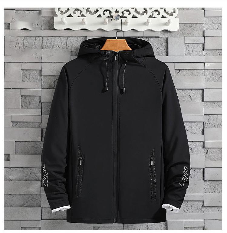 Nuevo diseñador para hombre de la chaqueta de lujo Sprint otoño Diseño Coats Casual delgada Outwear chaquetas al aire libre Moda con capucha más el tamaño L-XXXXXL mayorista