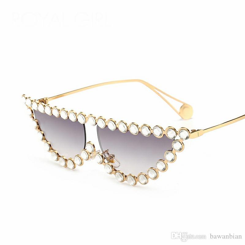 Occhiali da sole donna nuovo modo del gatto degli occhi Occhiali da sole femminile dia Flat Top Eye Wear UV400
