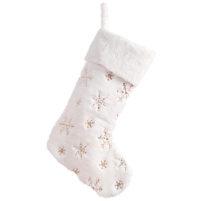 22 polegadas de pelúcia Snowflake meias presente de Natal para a decoração Home Xmas chaminé das meias Socks