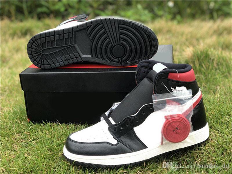 2019 Hava Yeni Otantik 1 OG Yüksek Siyah Gym Kırmızı Basketbol Ayakkabı Orjinal Kutusu ile 1S Beyaz Yelken Erkek Kadın Retro Spor Sneakers 555088-061