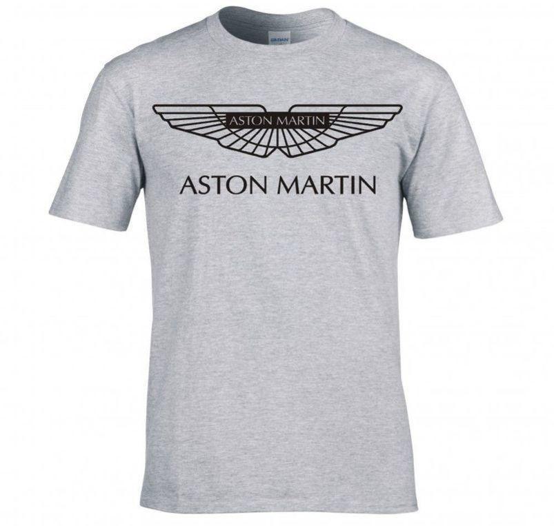 nouveau t-shirt design mens de la marque est arrivée les hommes t-shirt Aston Martin logo AM t-shirt tees Les hommes vente chaude T20IT5