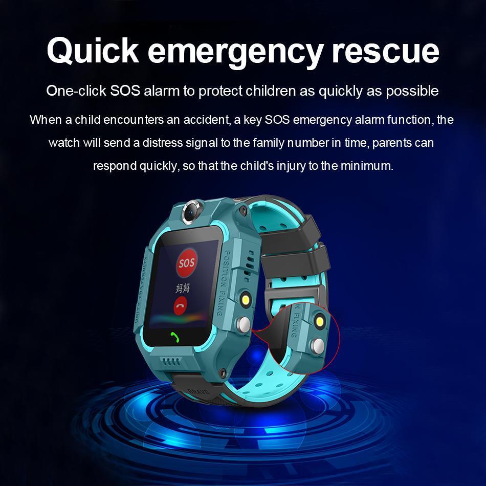 Q19 montre smart watch wateproof Smart Kids Montre LBS Tracker Smartwatches Emplacement pour carte SIM avec SOS caméra pour Smartphones Universal Box
