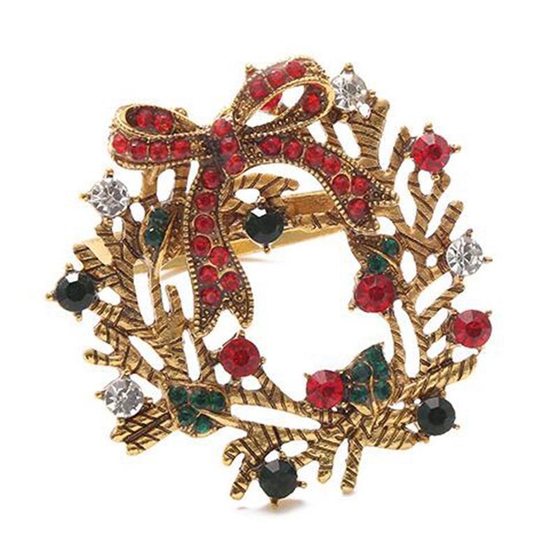 12шт полноценная Рождественская елка салфетка кольцо лук цветок венок рот кольцо отель образец комнаты набор обеденный стол Рождественская салфетка ведро