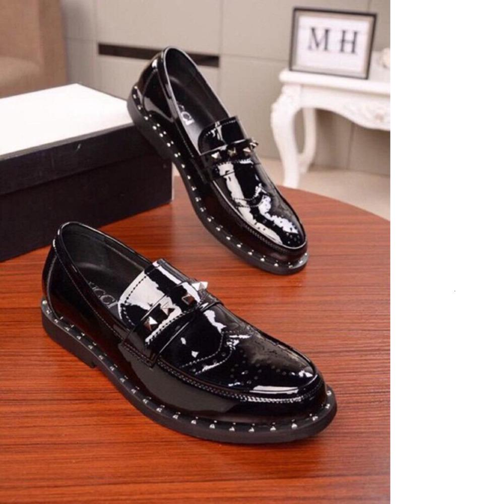 Herren Lederschuhe vielseitig Lackleder beiläufige Geschäftsschuhe RUE Größe 38-44 WSJ000 rutschfeste Unterseite Design aus hochwertigem Leder shoesx6