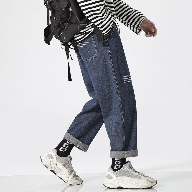Compre 29 Jeans Para Hombre Ins Marca De Moda Daddy Jeans Rectos Sueltos Sensacion De Caida De Los Hombres Pantalones Anchos Hasta El Tobillo A 89 85 Del Reginax Dhgate Com