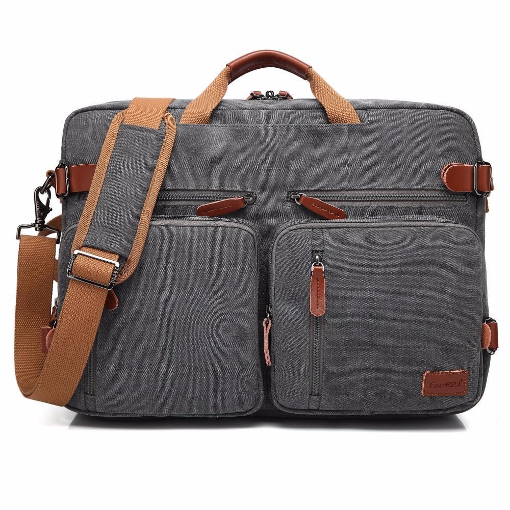 노트북 가방 15 17 17.3 인치 노트북 가방 어깨 메신저 노트북 케이스 핸드백 비즈니스 서류 가방 배낭 컨버터블 배낭