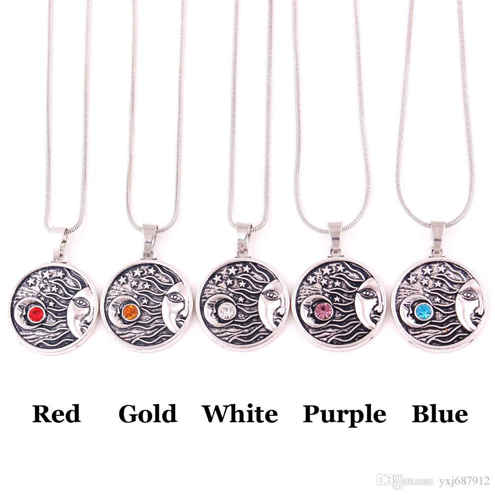 HS02 classic moon shape with star design funeral urn religious pendant necklace jewelry