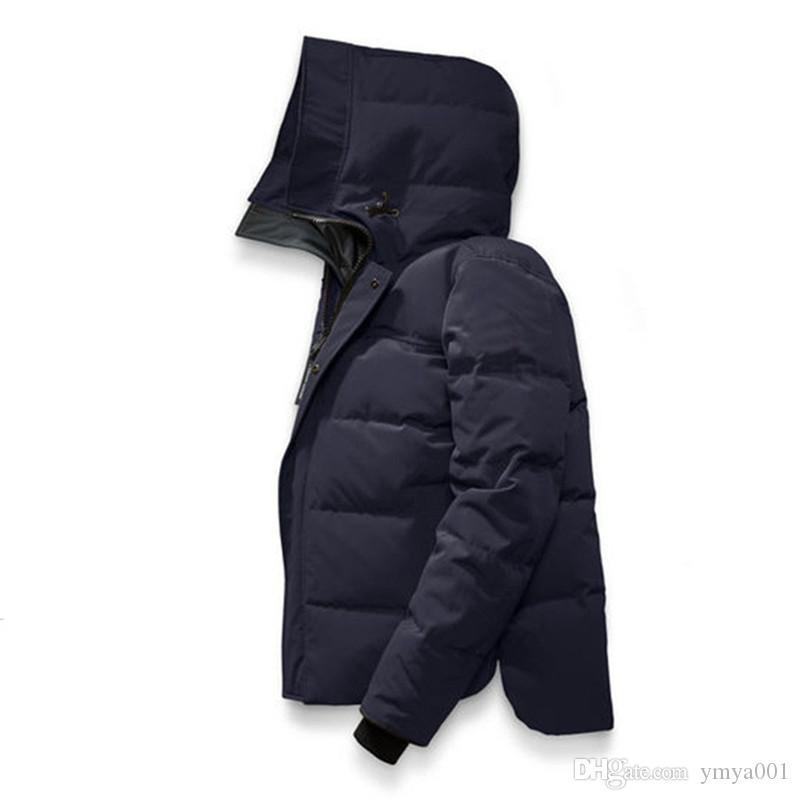 Nuovo stile Canada Inverno Uomo Homme inverno Giacche Chaquetas Parka Cappotti Big pelliccia con cappuccio Fourrure Manteau giù ricoprono Hiver Doudoune