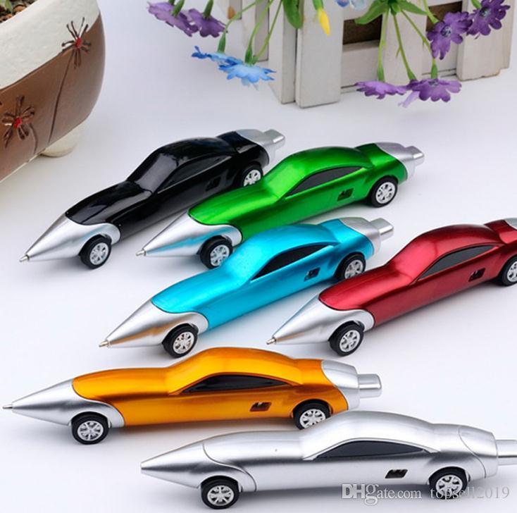 300pcs lustige Neuheit Racing Car Design Kugelschreiber bewegliche kreative Kugelschreiber-Qualität für Kinder Kinder Spielzeug Büro Schulbedarf SN2020