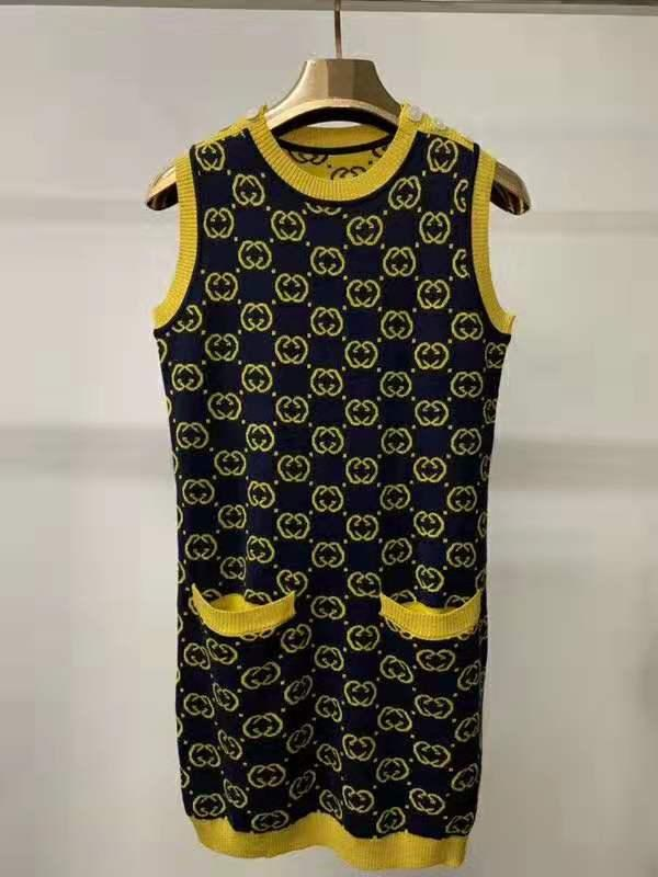 1224 2020 весна лето платье Crew Neck рукавов империи Черный Пром Мода женщин пуловер Kints платье ЦЯНЬ