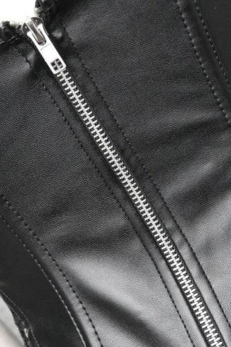 Lingerie Sexy Femmes Noir Faux LeatherLace Burlesque Steampunk Corset Robe taille gothique Bustier Corpet Taille Plus S-6XL