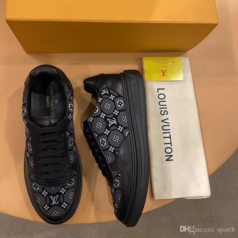 2020 F6 neue Art und Weise der beiläufigen Männer Schuhe, High Quality Gemütlich Luxus Herrenschuhe Lederturnschuhe ursprünglicher Kasten Verpackung Zapatos Hombre