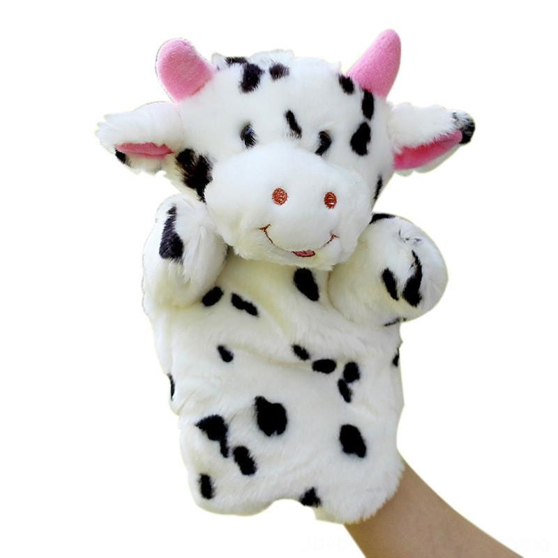 Hand cow Dolls Animal Hand Doll children telling story early education Learning Toys Puppets Stuffed Animals & Plush Marionetes Puppets