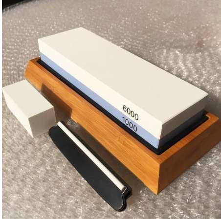 Good Quality Whetstone 2-IN-1 Sharpening Stone 6000/1000 Grit Waterstone Knife Sharpene, Sharpeners Grindstone