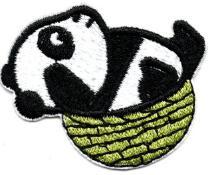 14pcsDedicated de pegatinas de tela explosivos se puede planchar panda nuevas pegatinas parche ropa de los niños pegatinas decorativas bordado parche de ITS