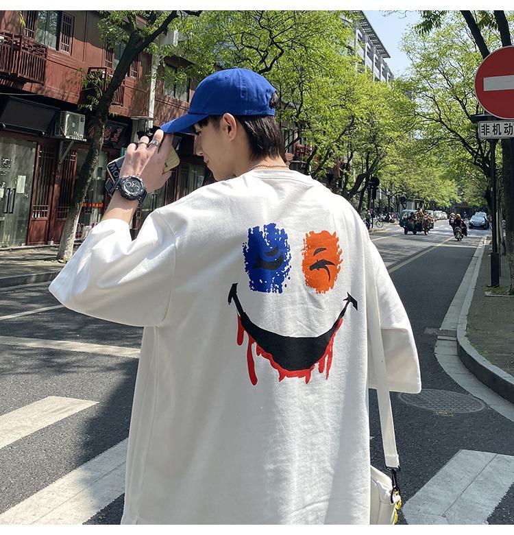 Estate vestito degli uomini Moda girocollo a maniche corte T-shirt vestito degli uomini e donne di sport allentato due pezzi Trend New elegante stampato Tuta