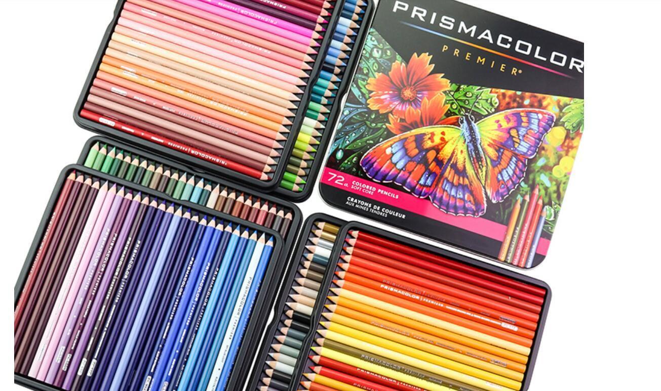original Prismacolor Premier 72 color art drawing pencil oil pencil 4.0MM soft core pencil iron box Sanford Prismacolor for secret garden