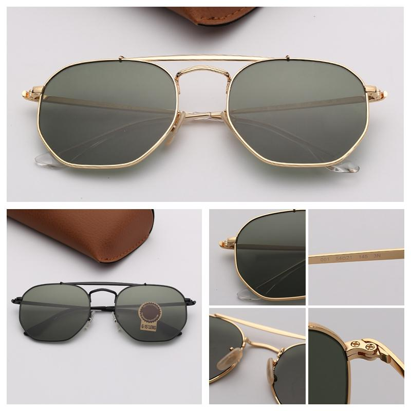 Donne Occhiali da sole esagonali doppio ponte Sunglasses Shield adumbral Occhiali da sole con montatura in metallo di pendenza lenti per Mens