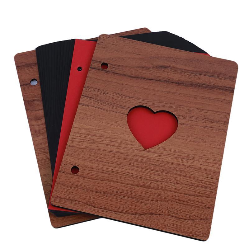 사진 나무 커버 기념 주년 기념 기록 아기 성장의 선물 사랑의 하트 장식 웨딩 스티커 스크랩북
