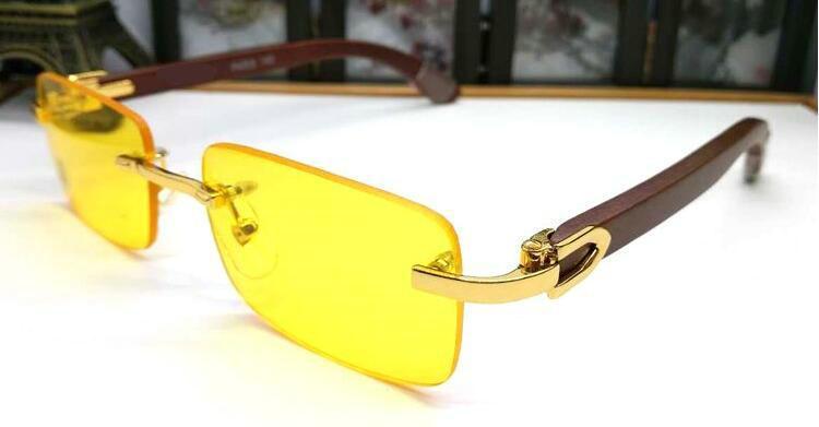 2020 패션 무테 물소 뿔은 남성 여성 클리어 렌즈에 대한 남성 여름 스타일 남자 스포츠 선글라스 선글라스 안경