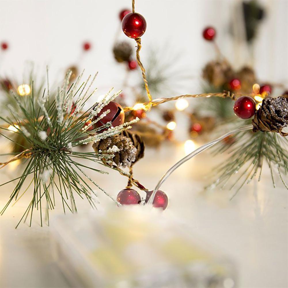 Árvore de Natal luz quente do ano novo Xmas Ornamento para o partido Home Decoração Feliz Natal LED Garland Tabela Decor