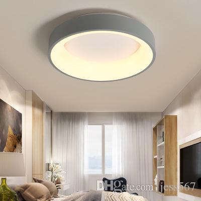 Modern Yuvarlak Çember LED Tavan Işık Tavan Fuaye Yatak odası Mutfak Dekor ly Aydınlatma için Dairesel halka Lambası Monteli