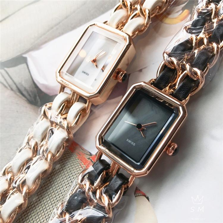 Fashion Women Watch Leather band gold/silver Nice Lady dress watch Relojes De Marca Mujer Nice Women Quartz Wholesale price Japan movement