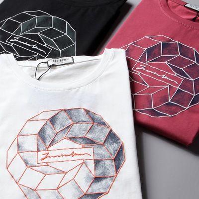 20190511 T-shirt à manches courtes avec impression peinte numérique et bas de loisirs