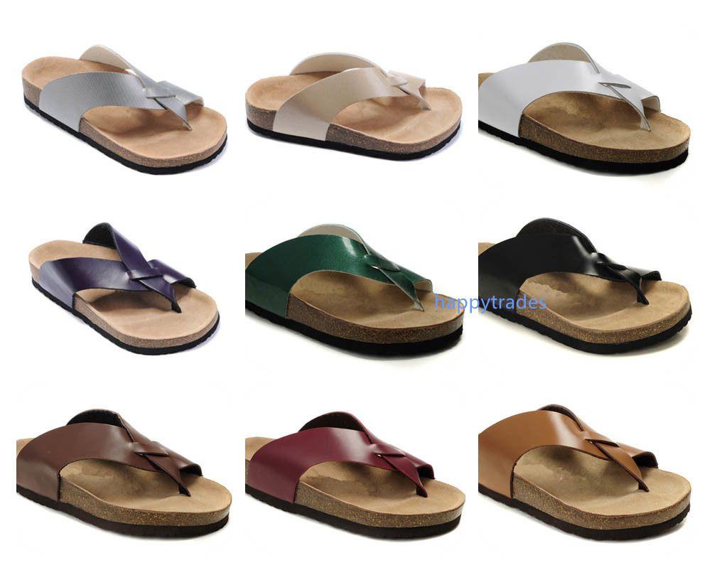 TOP Marka Orlando Kadın ler Düz Topuk Sandalet Yaz erkekler Plaj Klasik Casual Havalandırma Rahat Üst Kalite Gerçek Deri