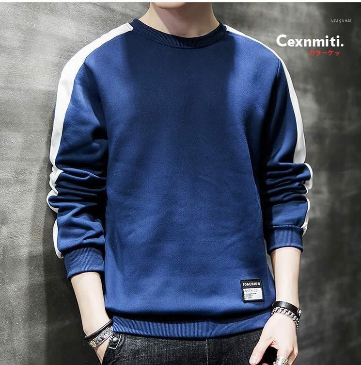 Männer Bekleidung Panelled Herren Designer Hoodies beiläufige O Ansatz Kleidung Pullover Langarm-Herren-Sweatshirts Gestreifte