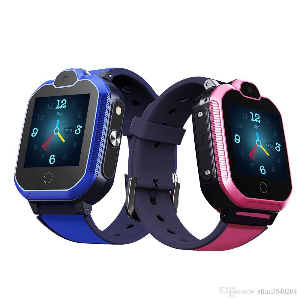 Schermo 4G Bambini astuti della vigilanza di GPS Wifi Tracker Smartwatch tocco SOS SIM Phone Call impermeabile regalo dei bambini vigilanza della macchina fotografica