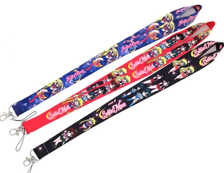 5 pcs / lot cartoon Japanese anime Sailor Moon Necklace Strap Lanyards Cell Phone PDA Key ID Strap Charms L-31