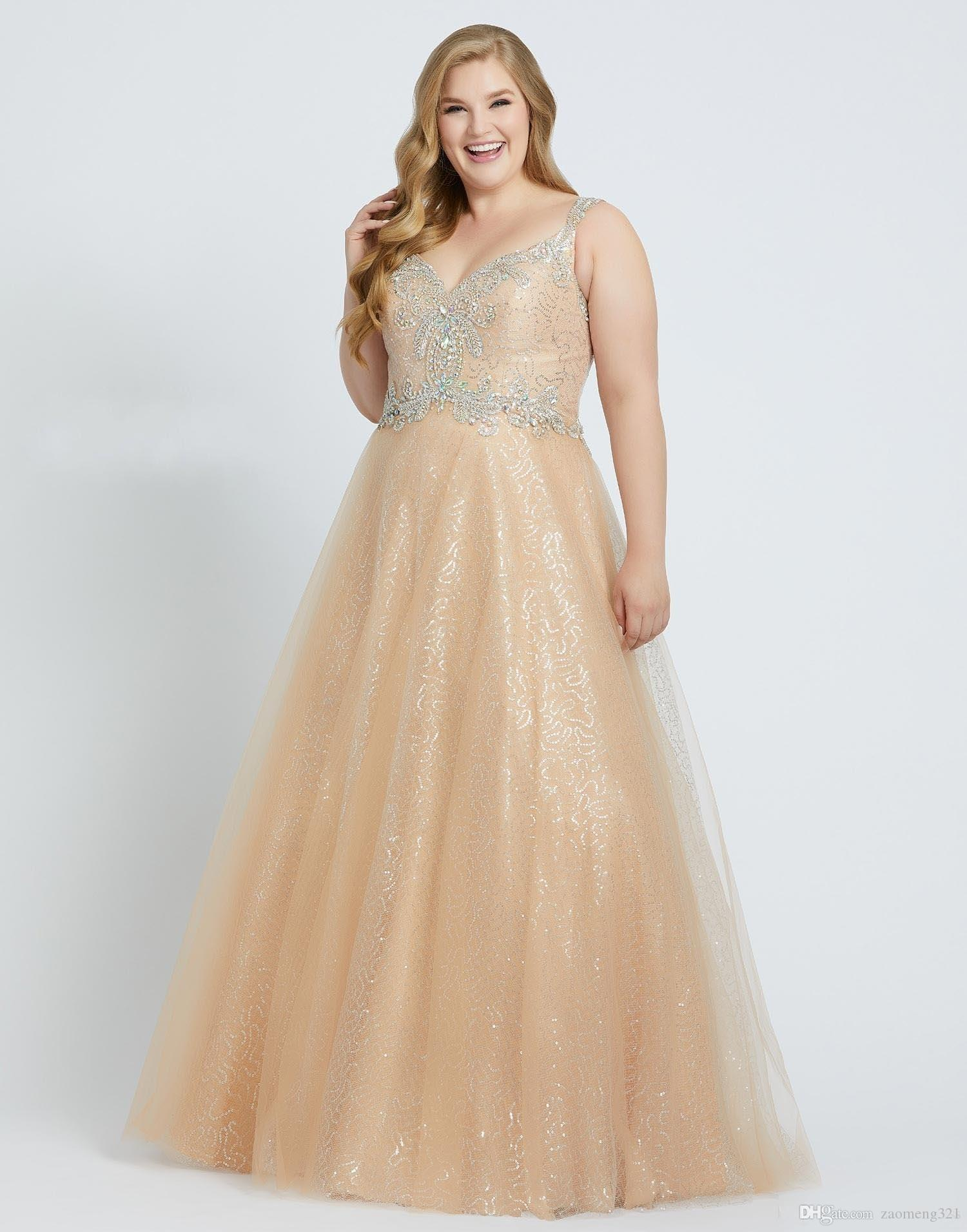 Champagne Sequins Tulle Plus Size Special Occasion Dresses Spaghetti Beaded  Straps Crystal Lace Up Elegant Evening Formal Dress Prom Party Vintage ...