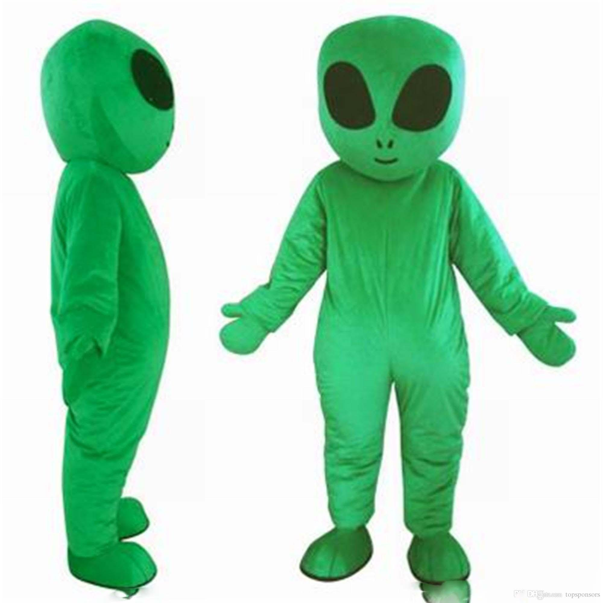 2019 High quality green UFO aliens mascot costume for adults E.T. alien mascot suit for sell