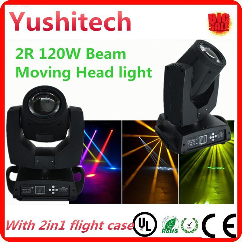 2pcs/lot Sharpy 120w 2R beam moving head light with flight case package dhl or fedex FREE SHIPPING