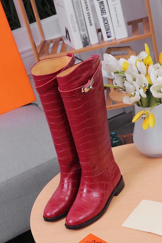 Patrón de piel de vaca de piedra zapatos largos 307613 Rojo Marrón Mujeres bota de montar botas de lluvia botines zapatillas de tacones altos de Lolita Bombas Zapatos de vestir