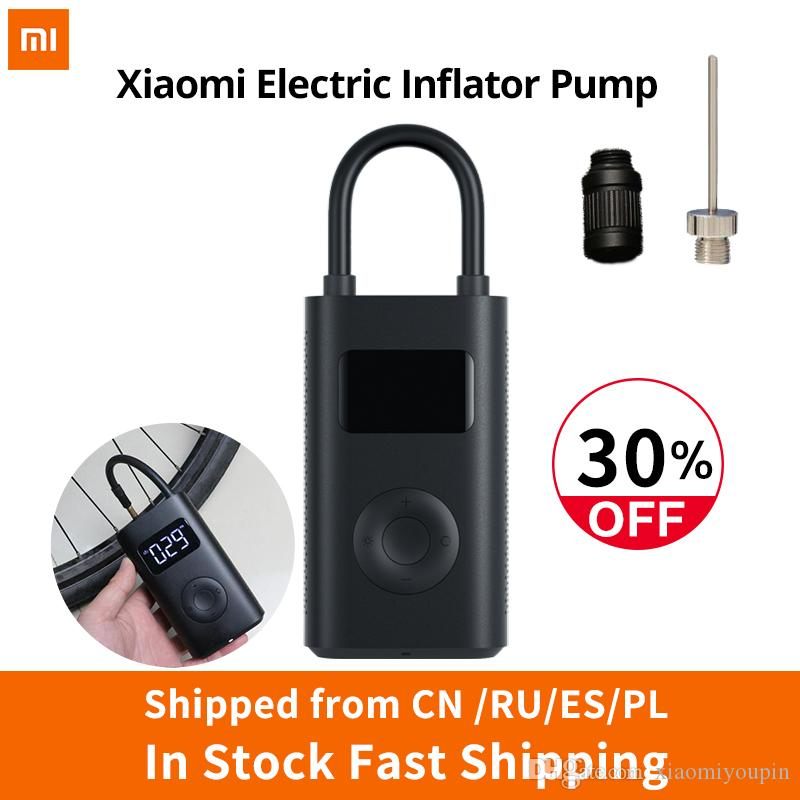 Xiaomi Electric Inflator Pump Portable Smart Digital Tire Pressure Detection For Bike Motorcycle Car Football