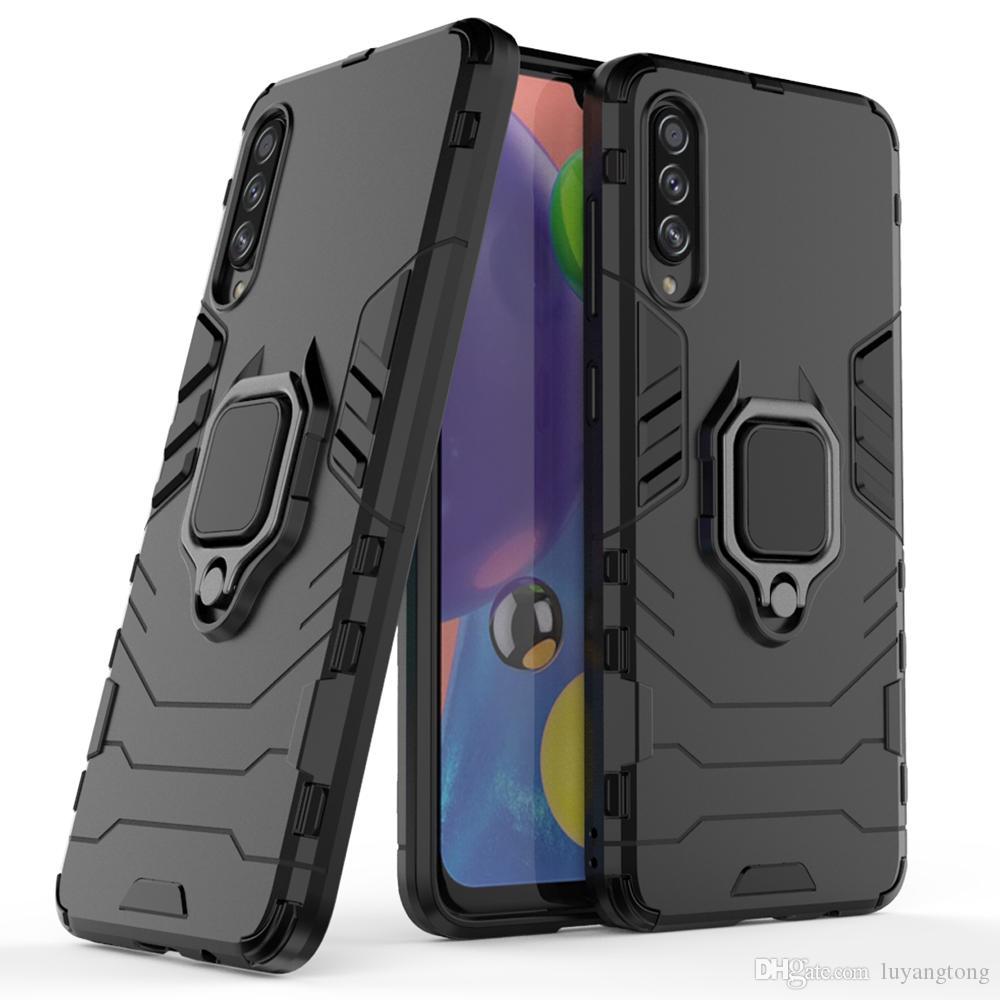Pour Samsung Galaxy A70S double armure de couverture de silicone dur pour Samsung Galaxy A50S A30S A20S A10S M30S antidétonant Combo Retour Case A50