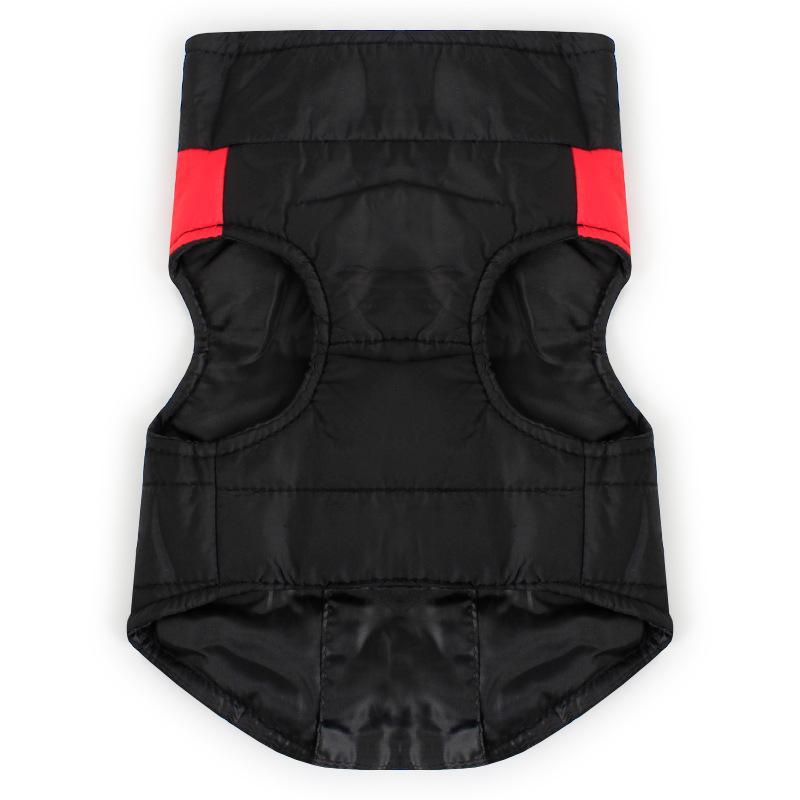 Inverno roupas para cachorros clássico Waterproof Dog acolchoado Vest Cotton Brasão Sport Jacket Zip-up para todas as raças Cães Gatos S -5XL 4 cores