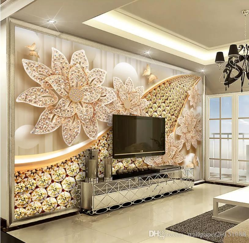 oturma odası Avrupa takı 3D arka plan duvar, modern salon duvar kağıtları için modern bir duvar kağıdı