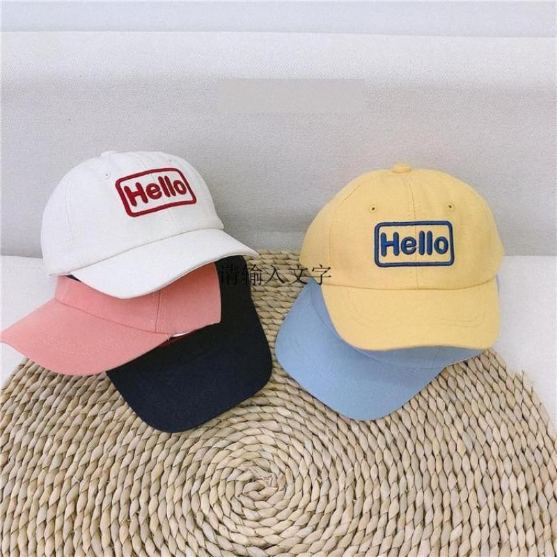Spring Summer Cute Cotton Baby Hat Cap Kids Boy Adjustable Baseball Caps Boys Girl Hats Children Snapback Hip-hop Sun Hat ZmvA#