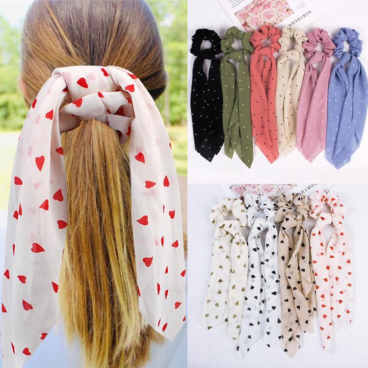 14 стилей мода решетка полосатый принт резинка для волос шарф эластичный лентой лук волос резиновые веревки девушки волосы галстуки аксессуары GJJ234
