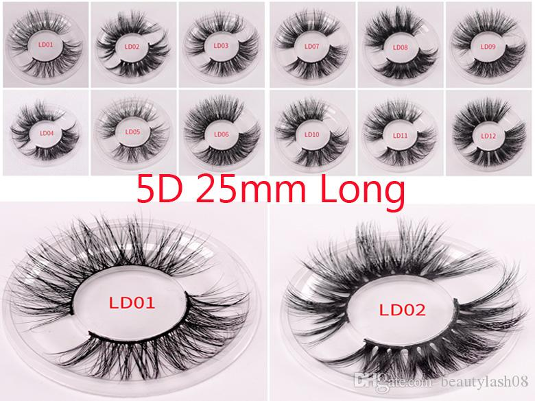 25mm Mink Lashes 3D Mink 100% Cruelty free Handmade Eyelashes False