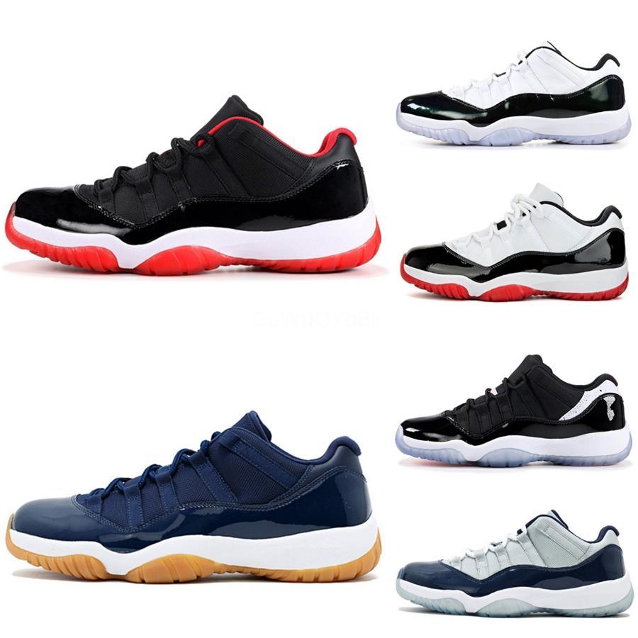 Jumpman 11 Herren Herren-Basketball-Schuhe 11S Trainer Männer Low Quality WMNS Concord Bloodline Bred Toe Royal Blue Mens Sportschuhe Schleichen # 439