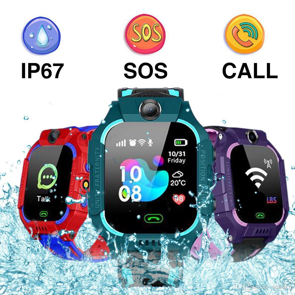 Niños Q19 reloj inteligente Wateproof LBS posicionamiento Lacation SOS Cámara bebé reloj inteligente voz Chat Smartwatch con tarjeta SIM para Smartphone