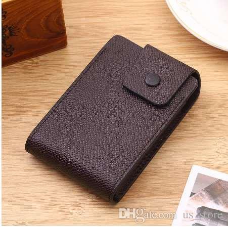 Männer Visitenkartenhalter Kaffee / schwarz / braun Kreditkarte Brieftasche PU Männliche Brieftasche 9 Bits + 2 Banknote / Ändern Position Card Case Bag