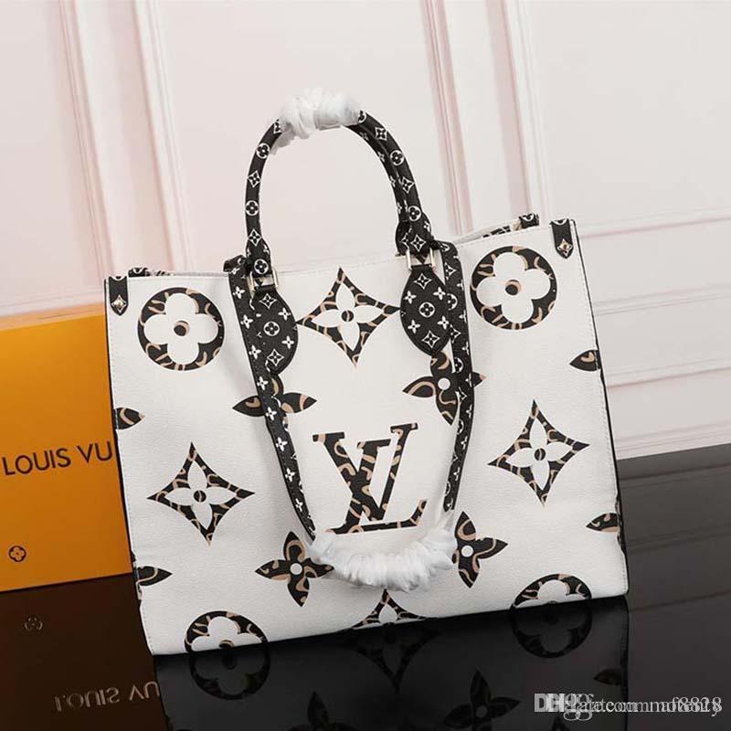 2020 новая роскошная дизайнерская сумочка из кожи и холста роскошная дизайнерская сумочка с модным принтом M44571 X128