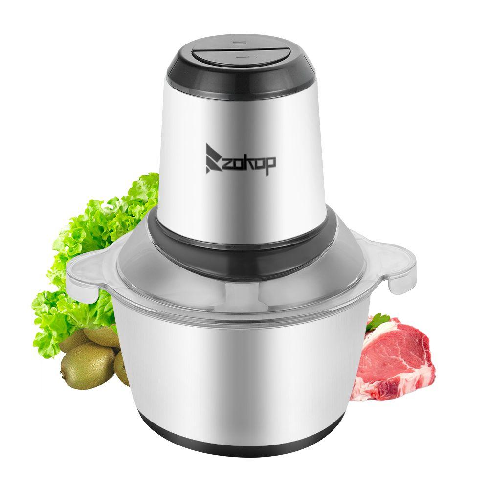 Robot da cucina Tritacarne Elettrico Chopper 2L 300W cucina in acciaio inox alimentare per Carne Verdura frutta e noci nave da Stati Uniti d'America